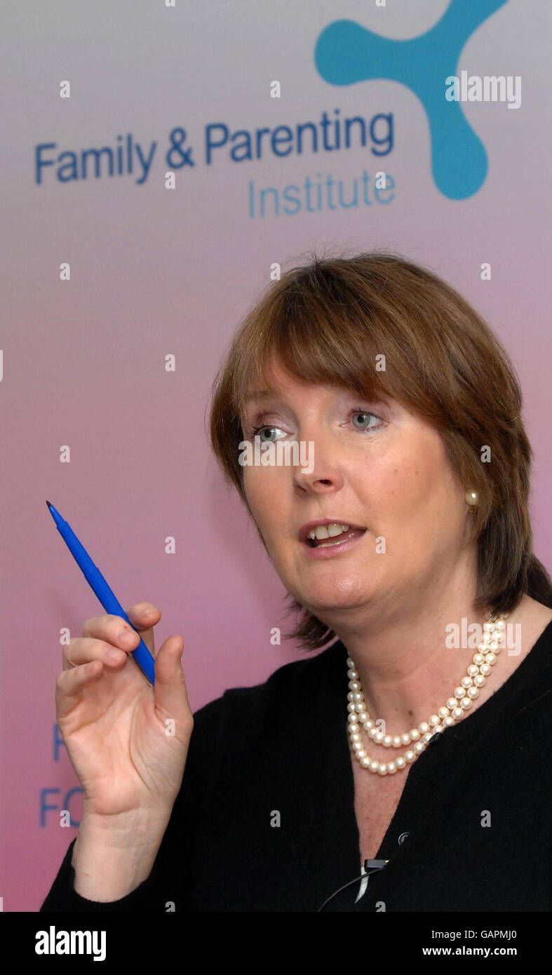 Harriet Harman at the Family and Parenting Institute - Stock Image