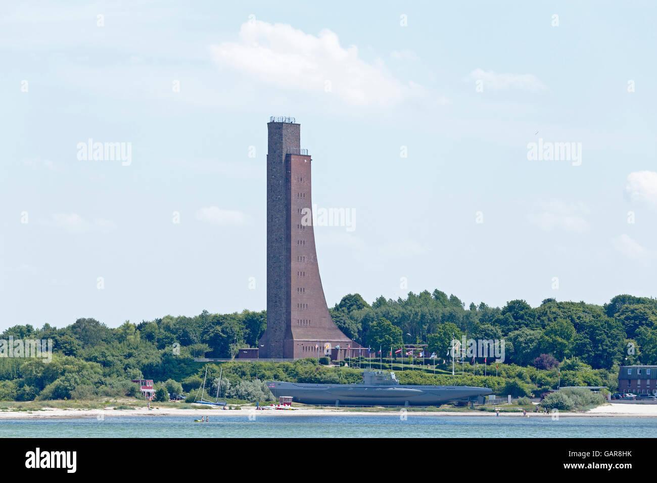 Laboe Naval Memorial, Kiel, Schleswig-Holstein, Germany - Stock Image