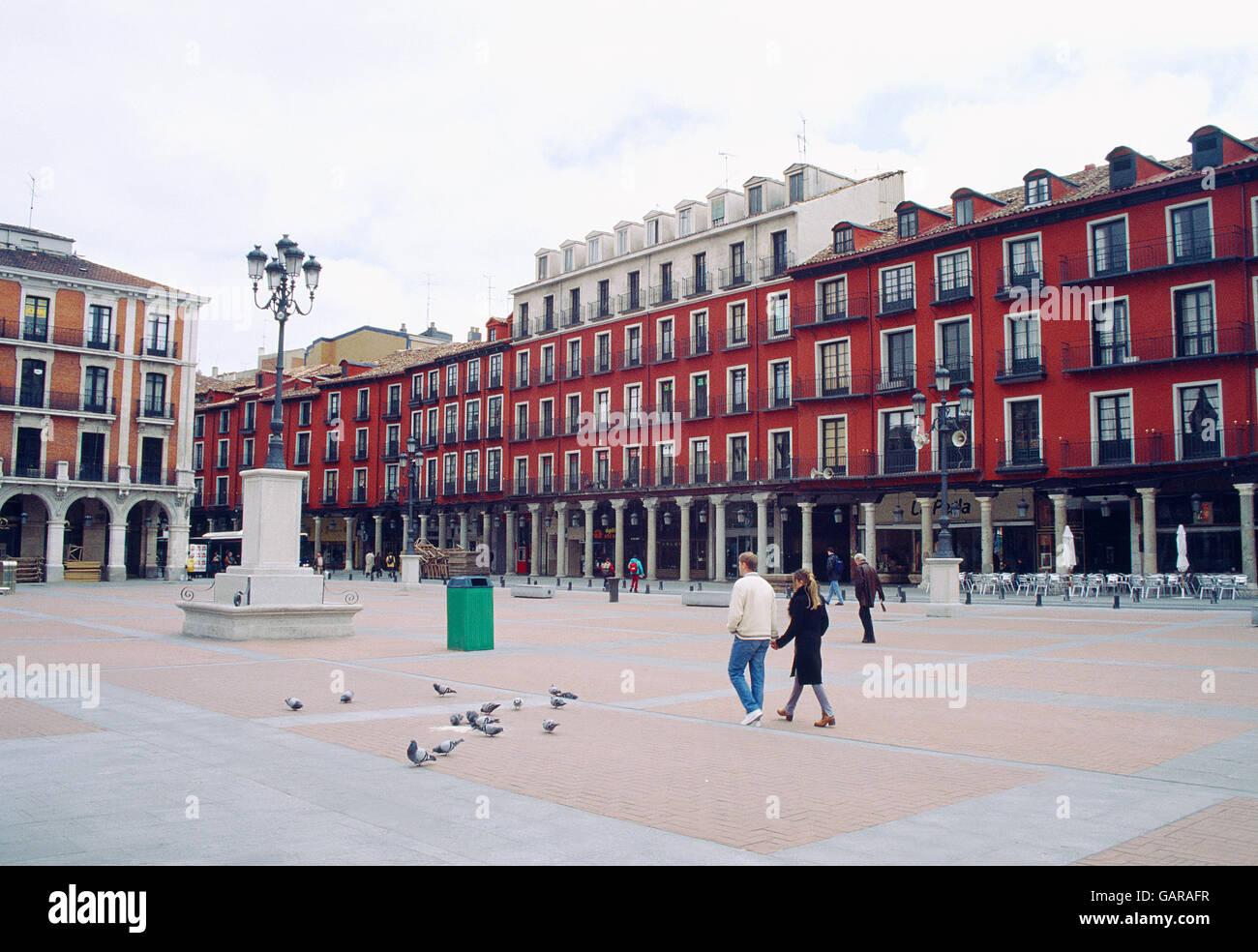 Main Square. Valladolid, Castilla Leon, Spain. - Stock Image