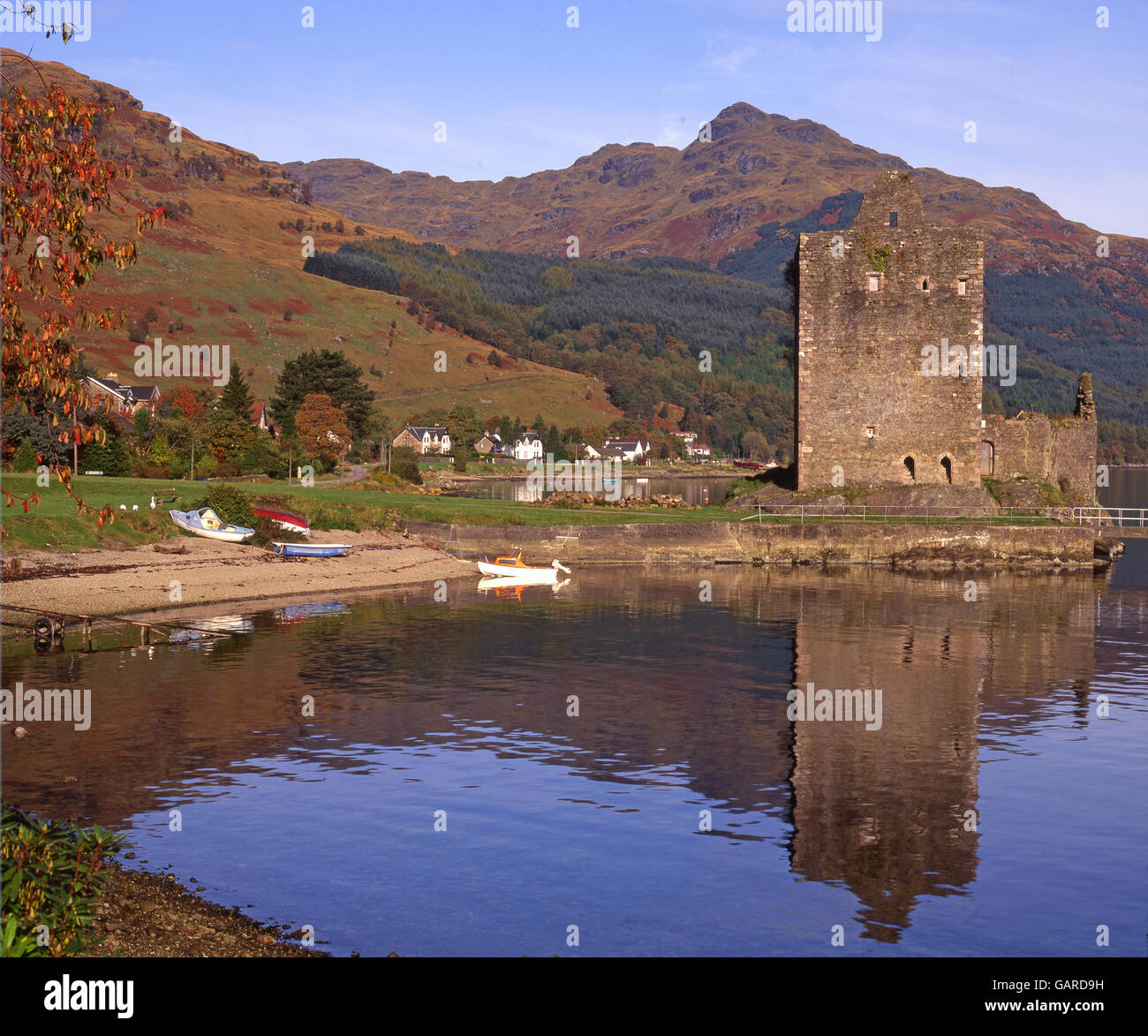 Carrick castle, Loch Goil, Lochgoilhead, Argyll - Stock Image