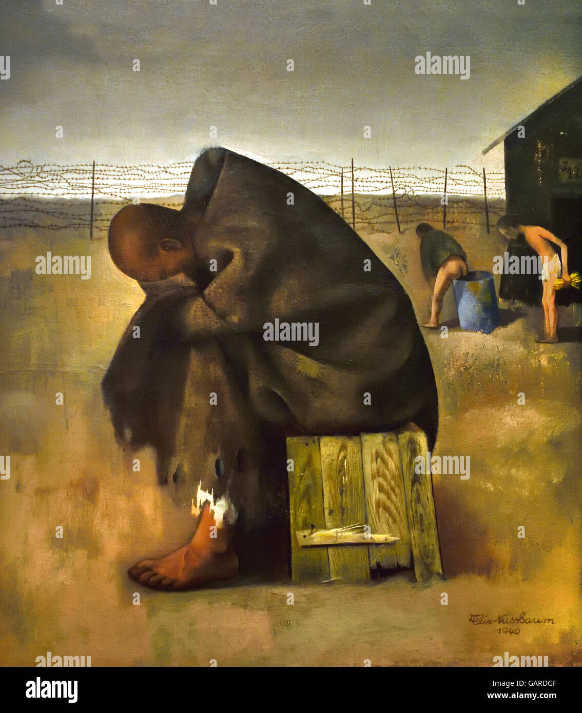 Prisoners – 1940 Felix Nussbaum 1904 – 1944 Auschwitz,German Jewish painter Nazi Germany Jewish surrealist painter. - Stock Image