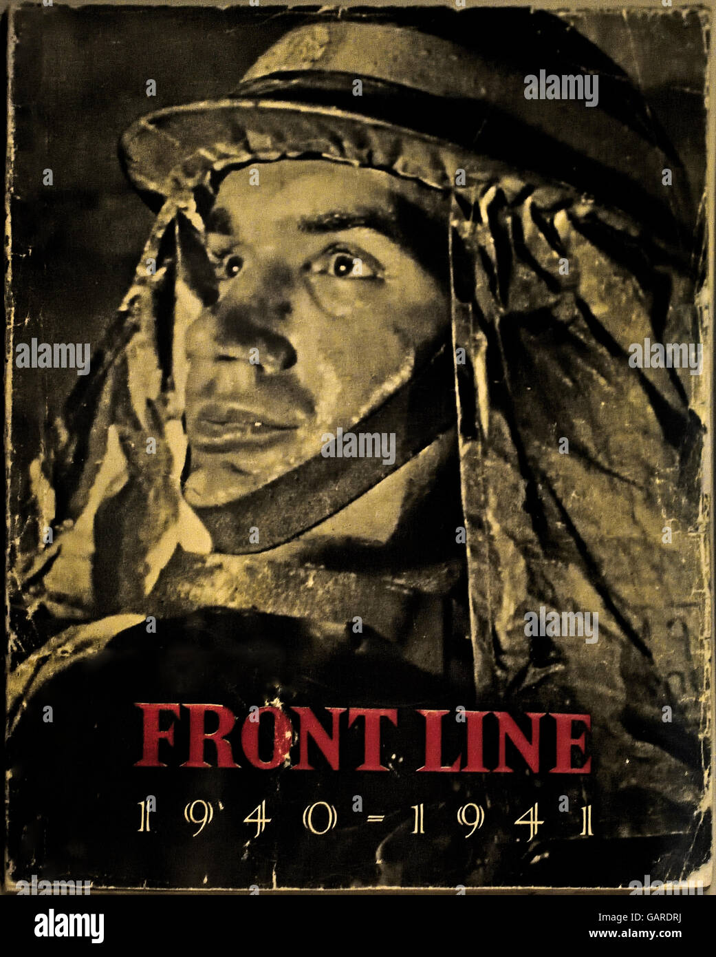 Front Line 1940 -1941 ( Text of the British civilian defense London  942 ) Second World War 2 - Stock Image