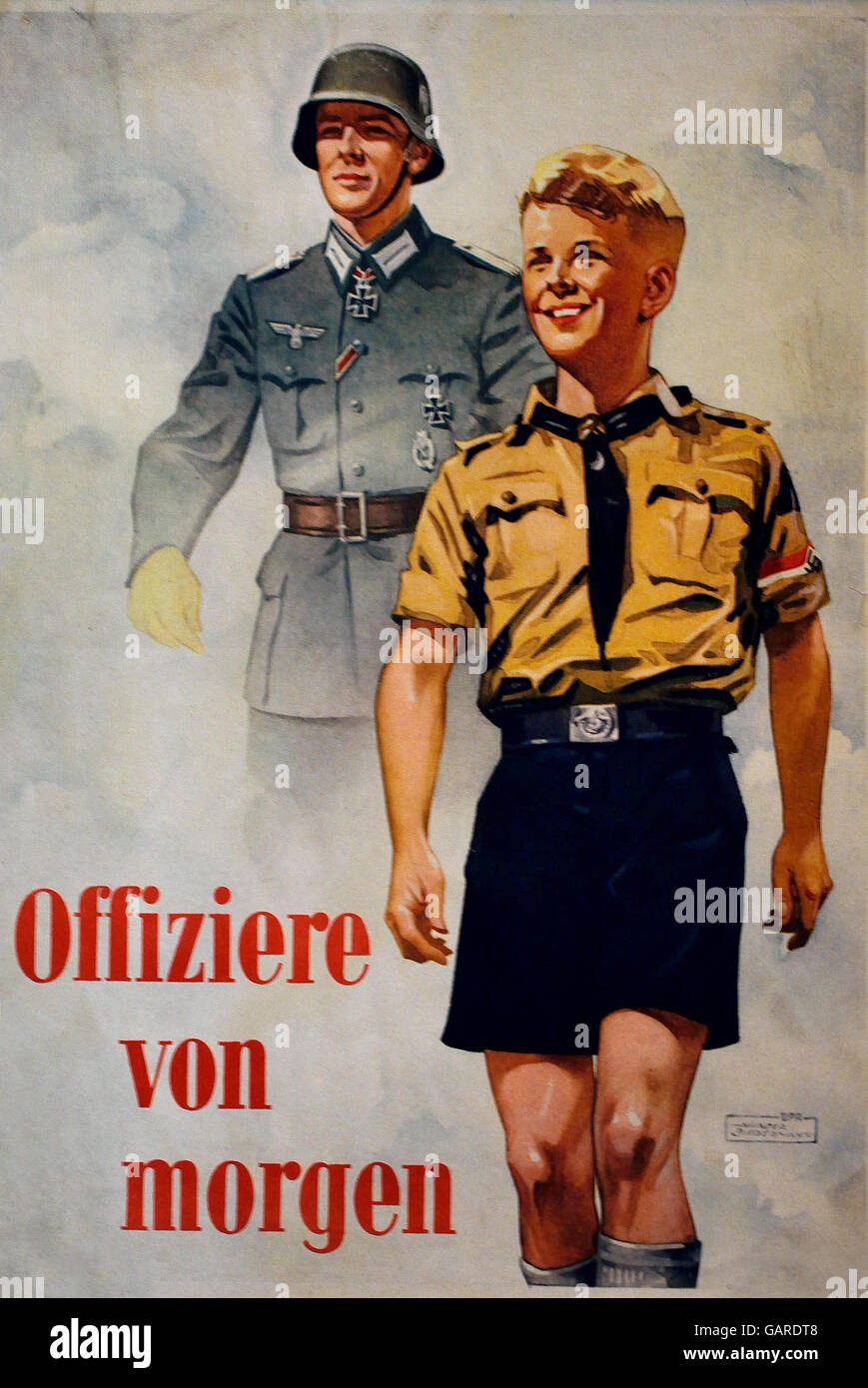 Offiziere von Morgen  - Officers of Tomorrow  Nazi Germany ( Advertising poster for the Wehrmacht ) - Stock Image