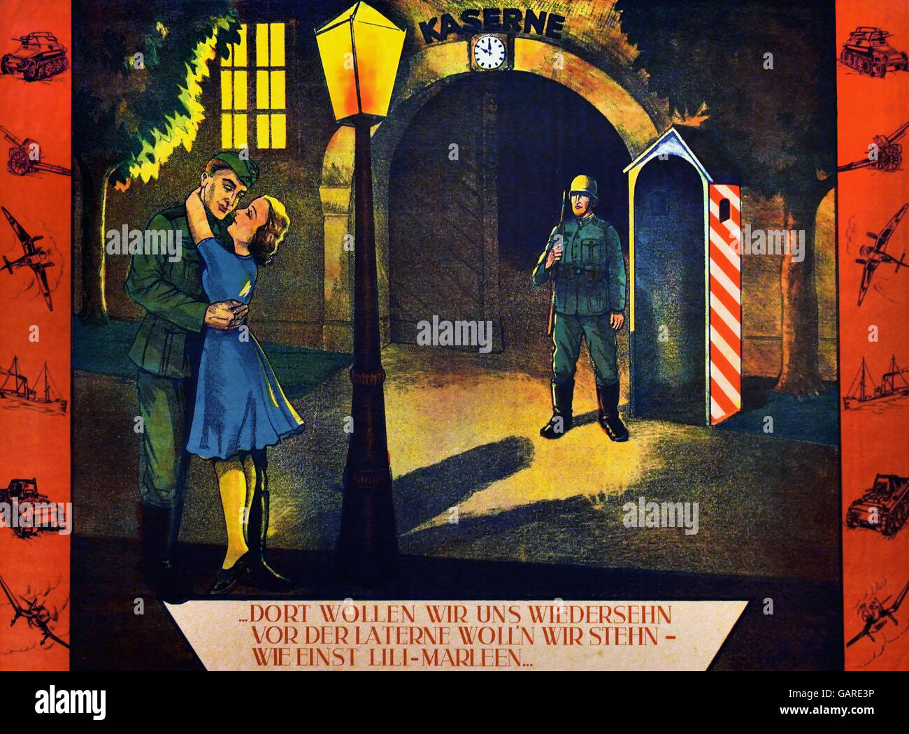 Poster for the song Lili Marleen 1941 / 1944 Berlin Nazi Germany ( Lili Marleen is a German love song which became - Stock Image
