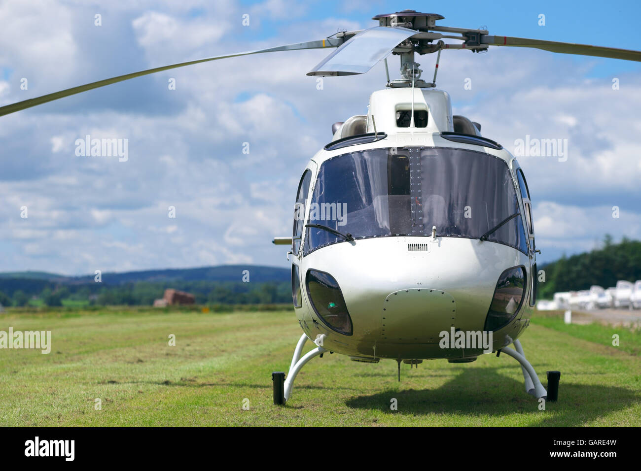 Private helicopter Aerospatiale AS 355 Twin Squirrel - Stock Image