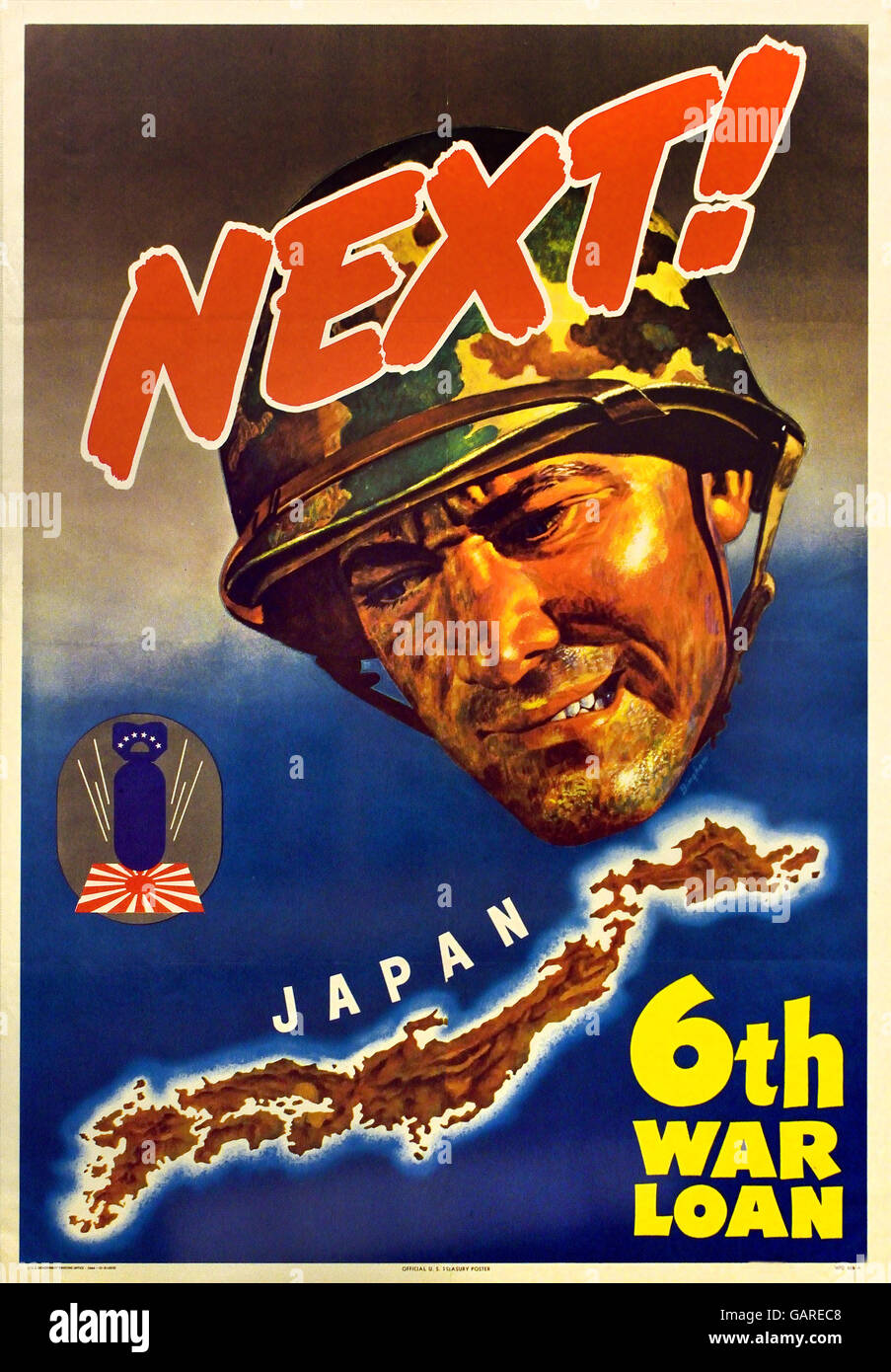 Next Japan 6th War Loan Second World War 2  1940-1945 United states of America USA poster billboard US Army - Stock Image