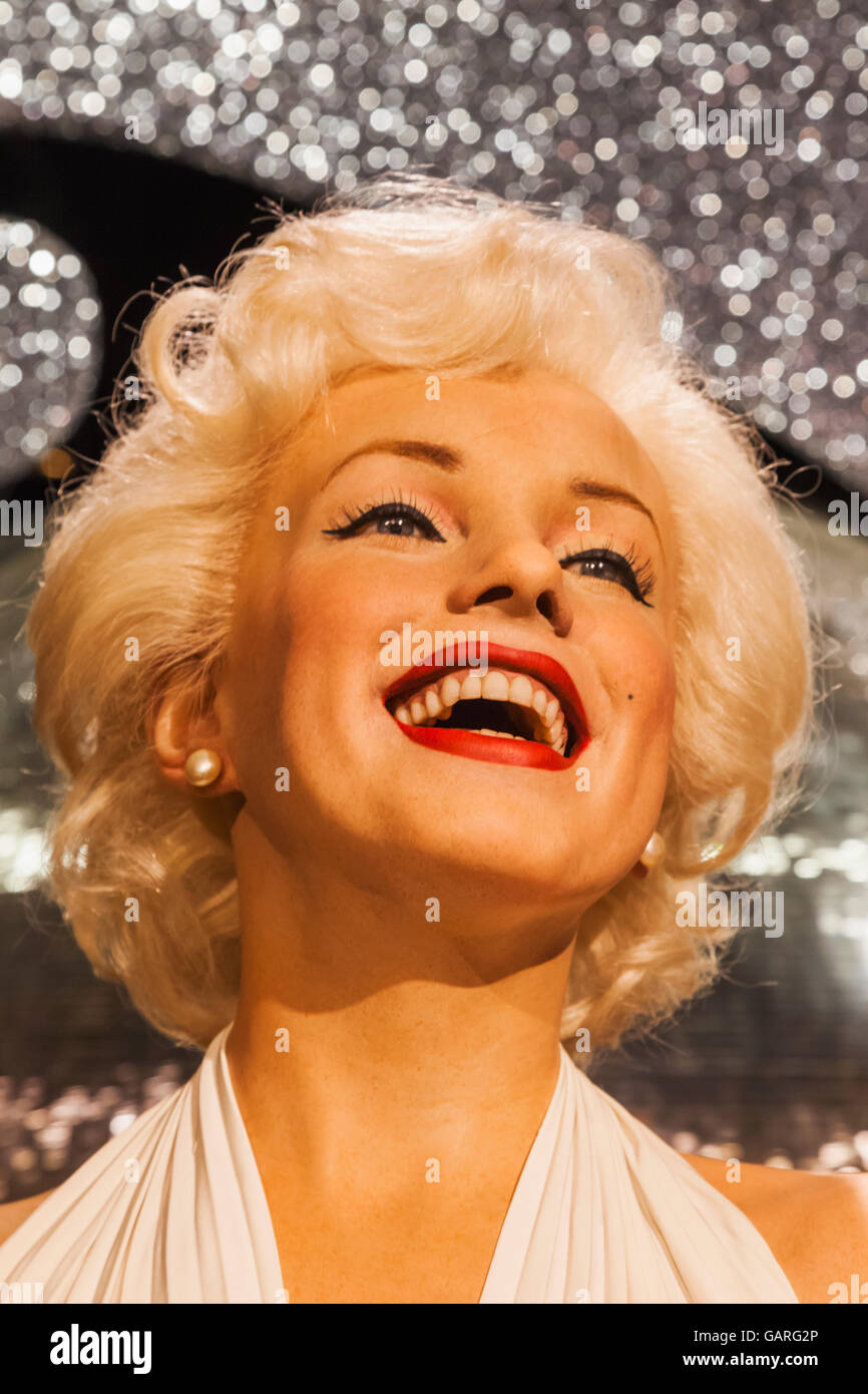 England, London, Madame Tussauds, Wax Figure of Marilyn Monroe - Stock Image