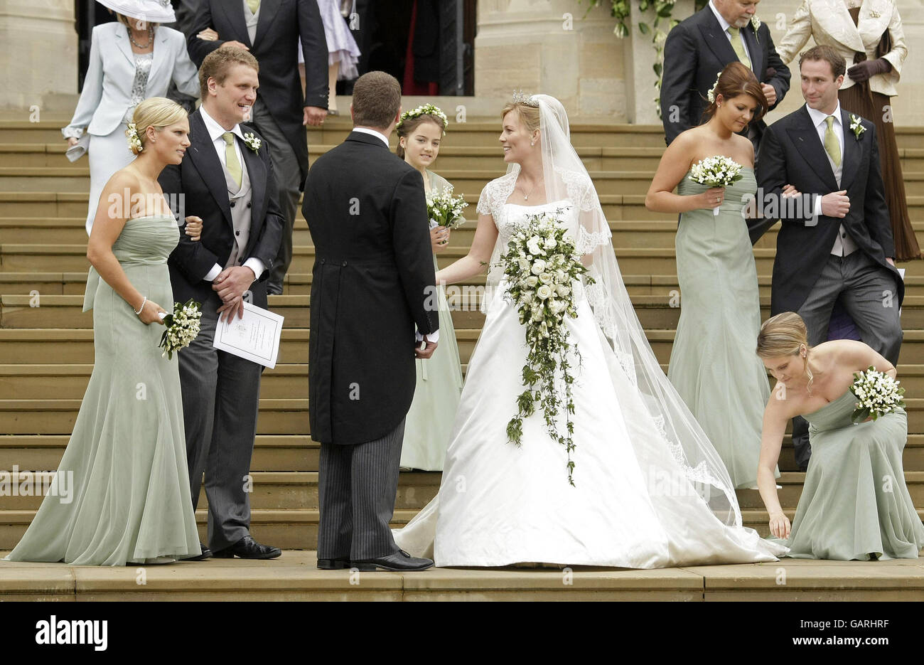 Royalty Peter Phillips And Autumn Kelly Wedding St George S Stock Photo Alamy,Formal Summer Beach Wedding Guest Dresses
