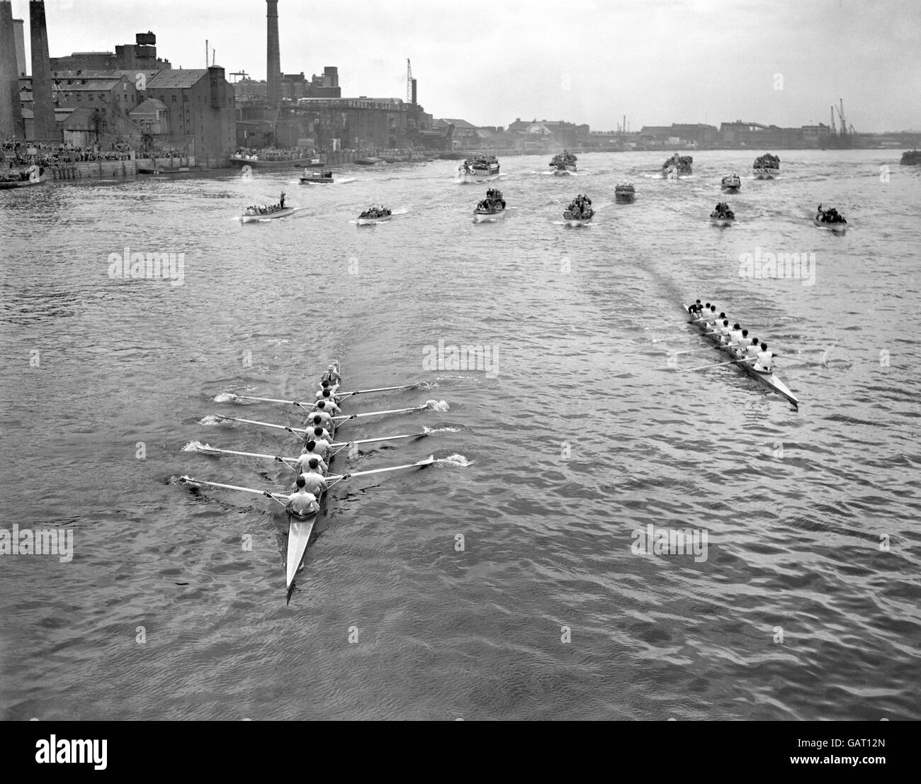 Rowing - Oxford v Cambridge Boat Race - London - 1960 - Stock Image