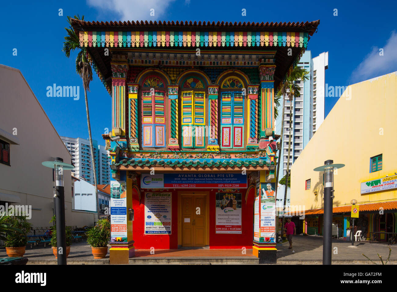 Popular location of Tan Teng Niah house at Little India for instagrammers. - Stock Image