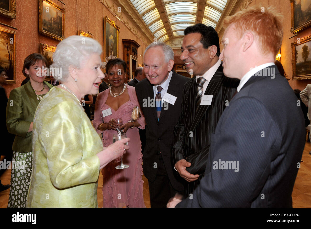 Queen hosts reception for British Hospitality Industry Stock Photo