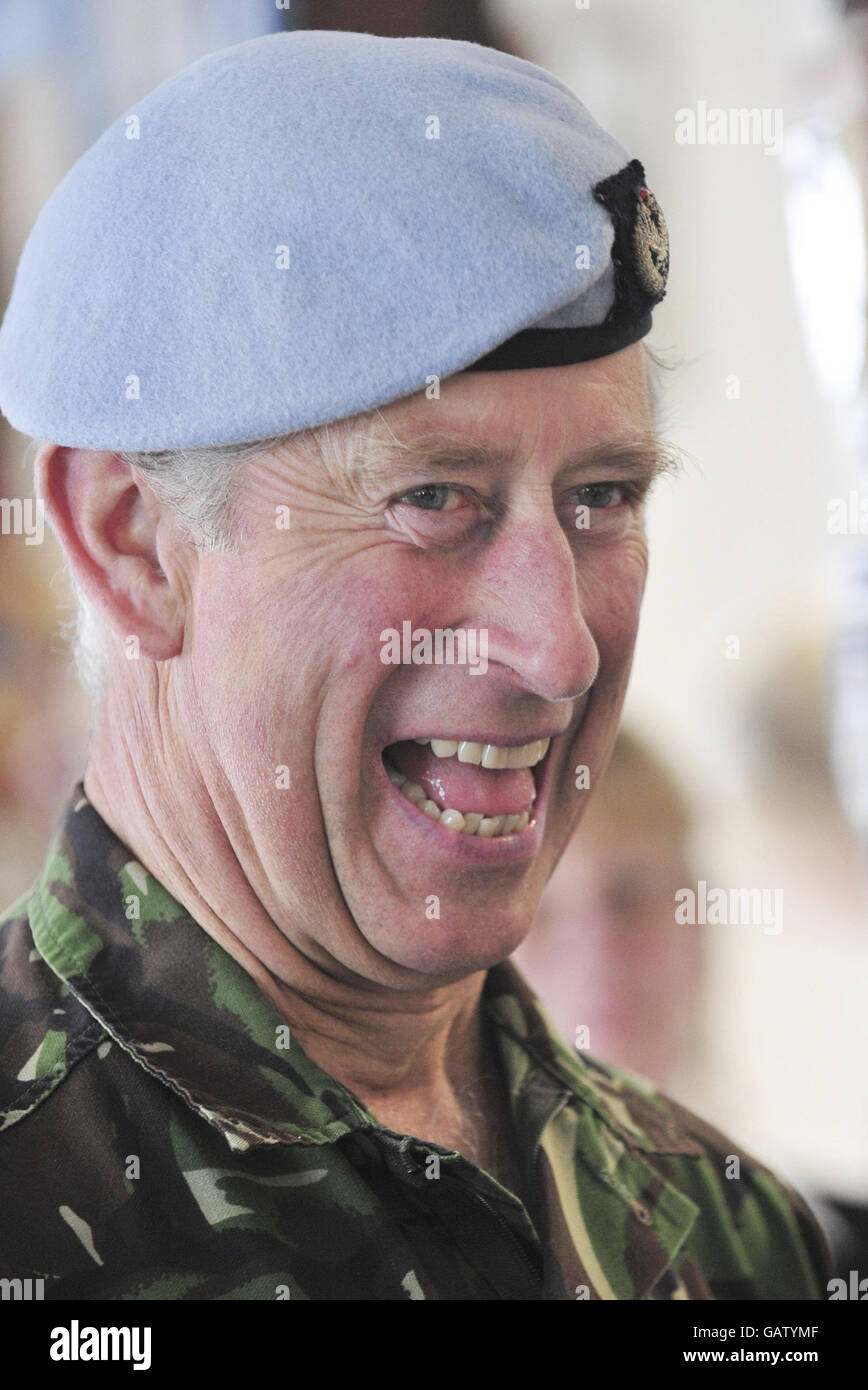 Charles speaks of anxieties over Harry's war service - Stock Image