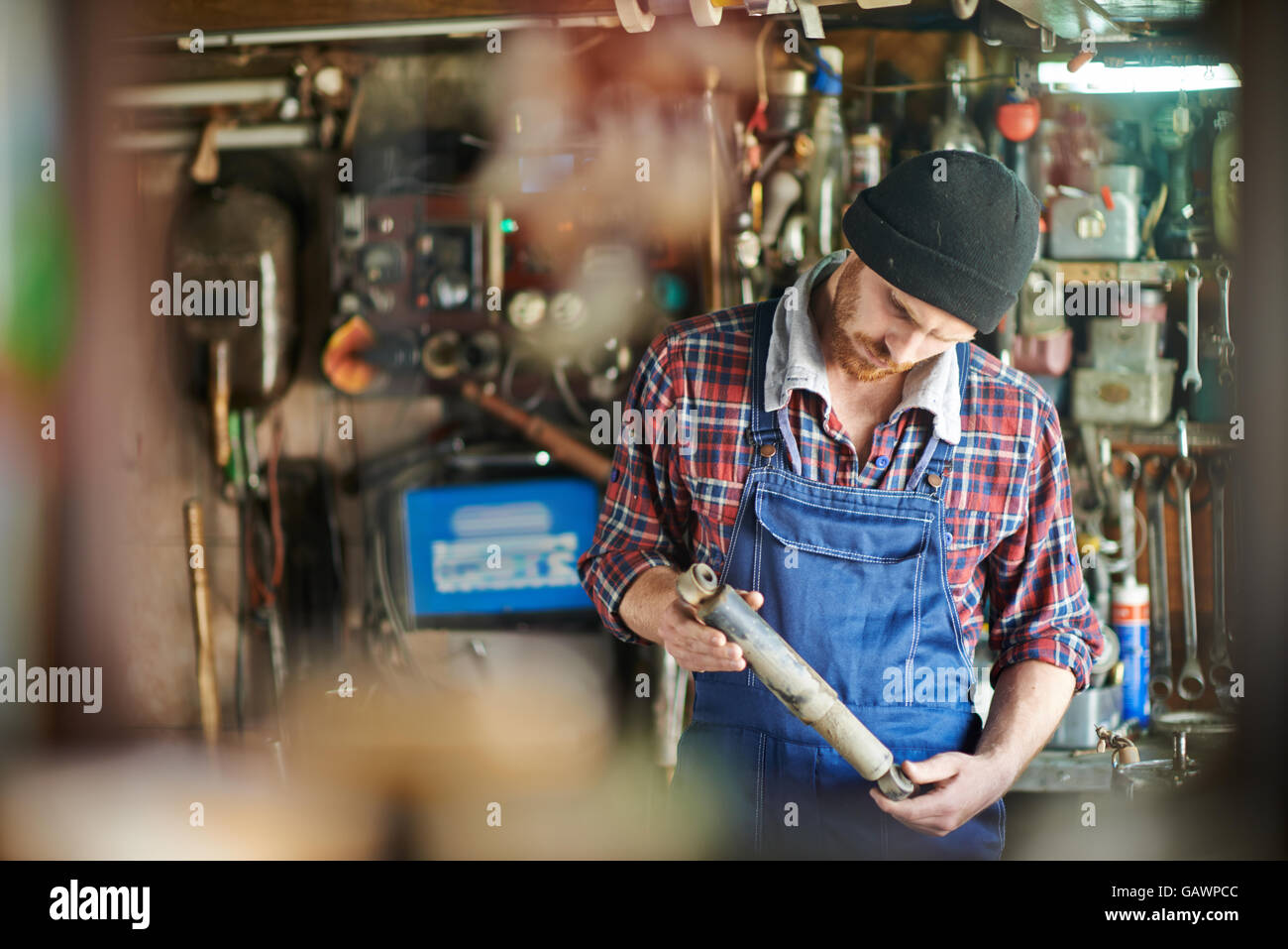 Handyman at work - Stock Image