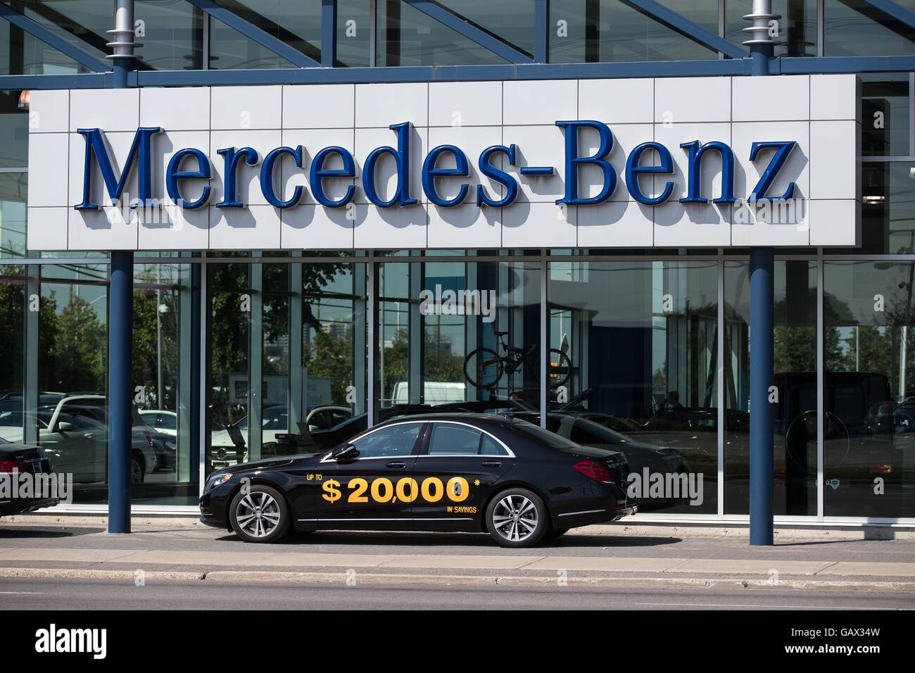 Ottawa, Ontario, Canada. 5th July, 2016. The Mercedes Benz Dealership