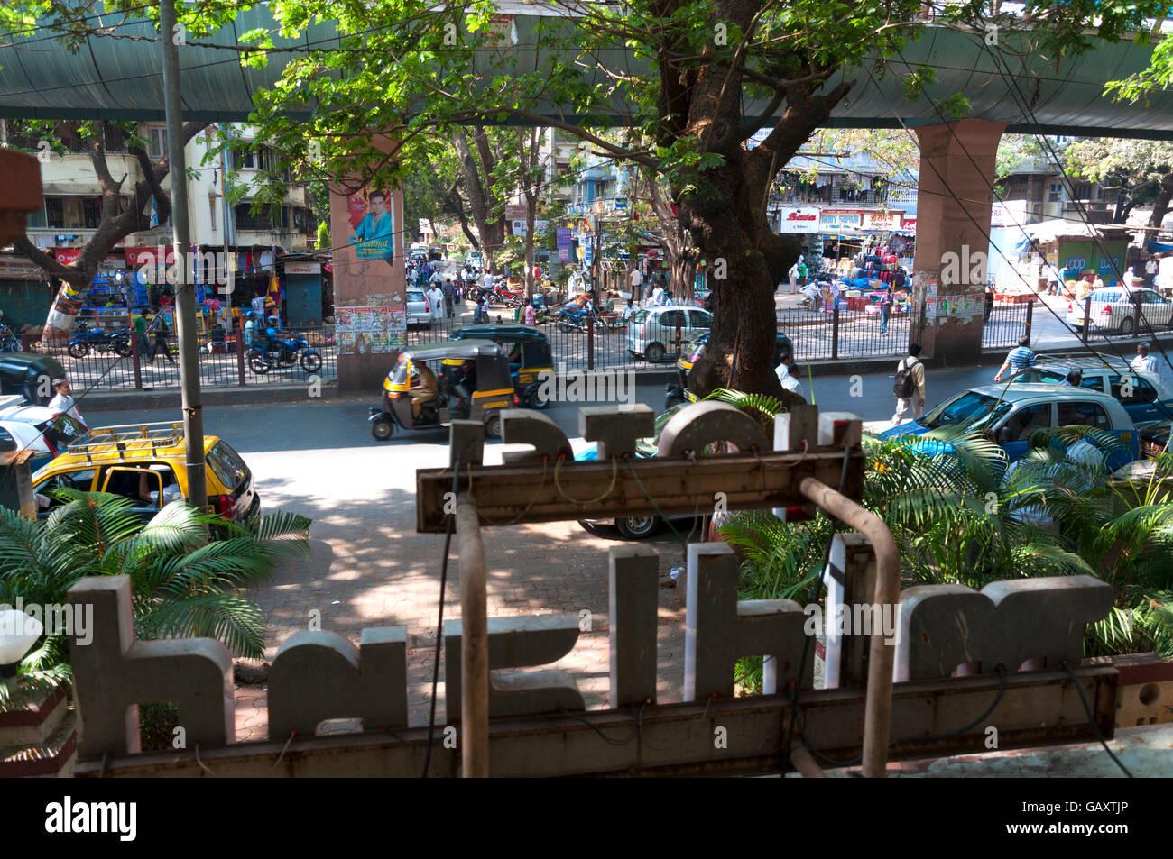 Jawaharlal Nehru Road, Santacruz,  Mumbai, Maharashtra, India. View from Hotel Midland balcony - Stock Image