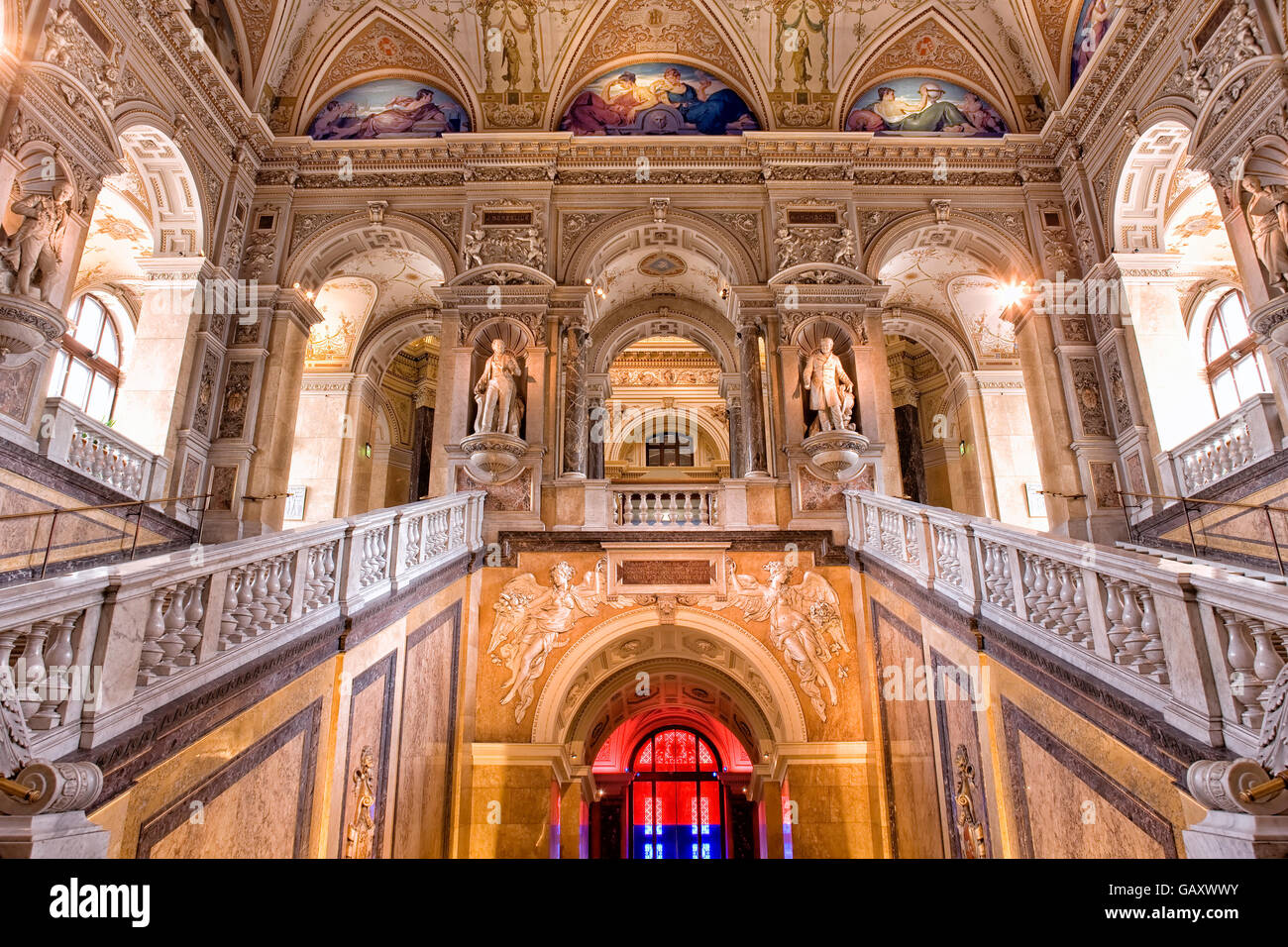 Stairs in the Natural History Museum in Vienna - Stock Image