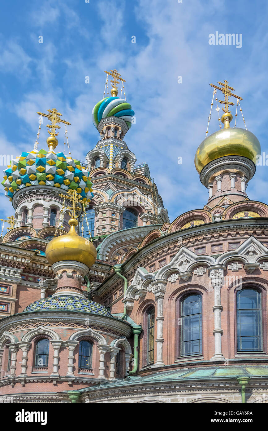 Church Of The Spilled Blood St Petersburg Russia - Stock Image