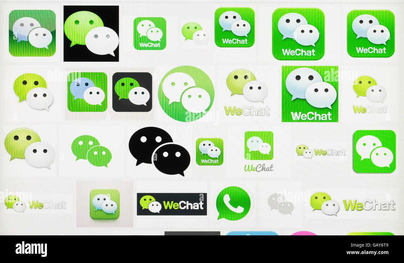 screenshot of the wechat logo stock photo 110006857 alamy