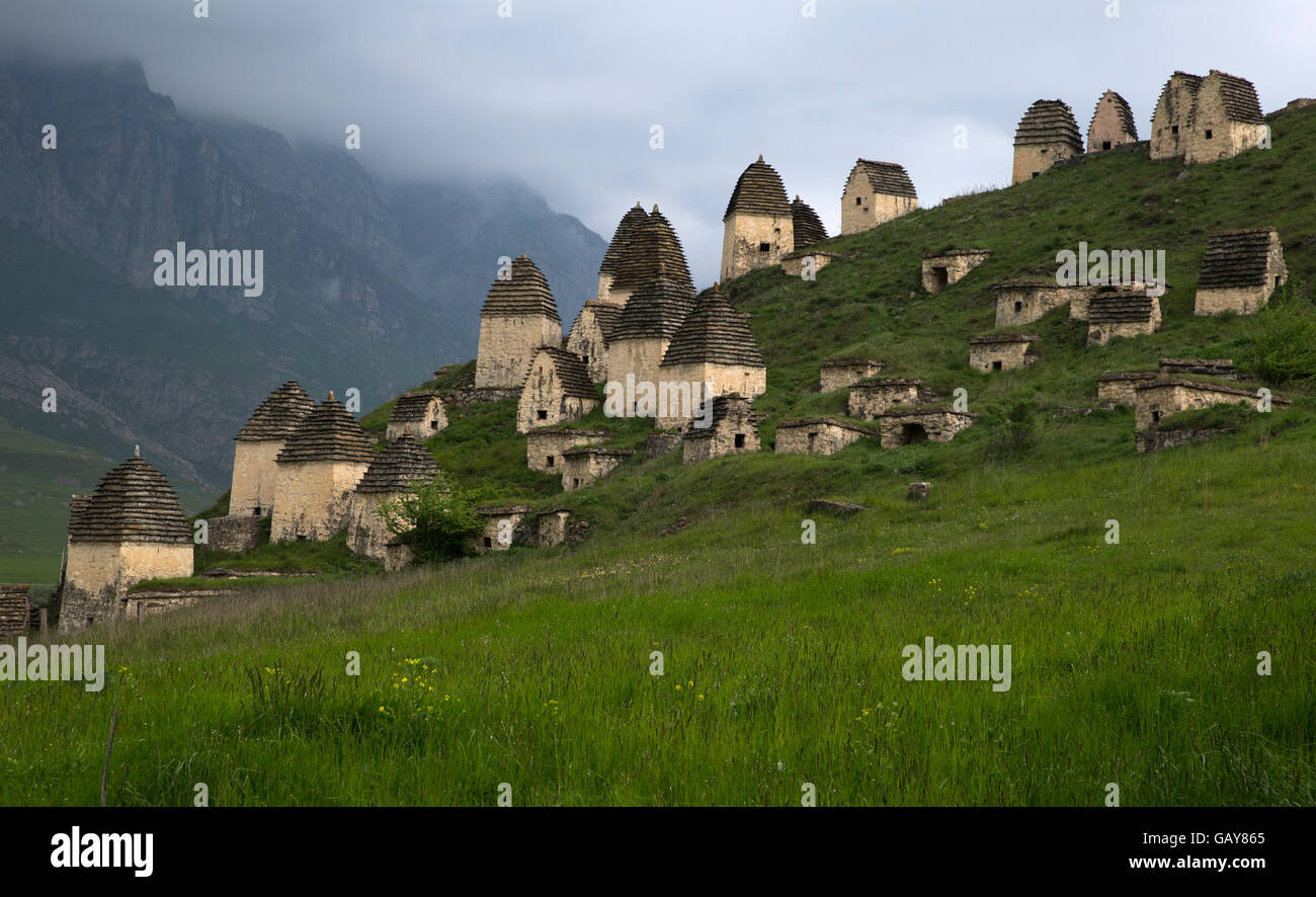 City of the dead. Dargavs.North Ossetia. Russia. - Stock Image