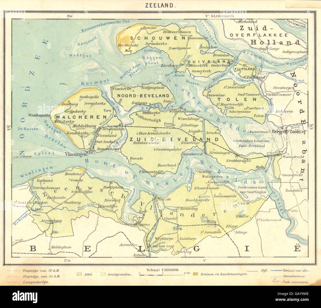NETHERLANDS: Zeeland, 1922 vintage map Stock Photo ... on map of drayton, map of flevoland, map of vassar, map of ray, map of dorr, map of drenthe, map of minnewaukan, map of dordrecht, map of randstad, map of holland, map of turtle lake, map of saranac, map of brabant, map of leonard, map of leeuwarden, map of arthur, map of schoolcraft, map of domburg, map of ostergotland, map of big rapids,