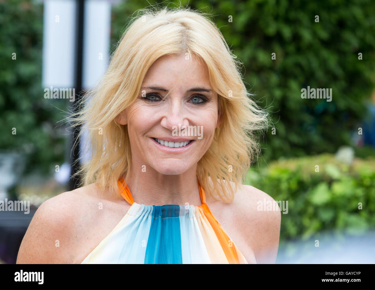 Former 'East Enders' star and actress,Michelle Collins at the RHS Hampton Court Flower show - Stock Image