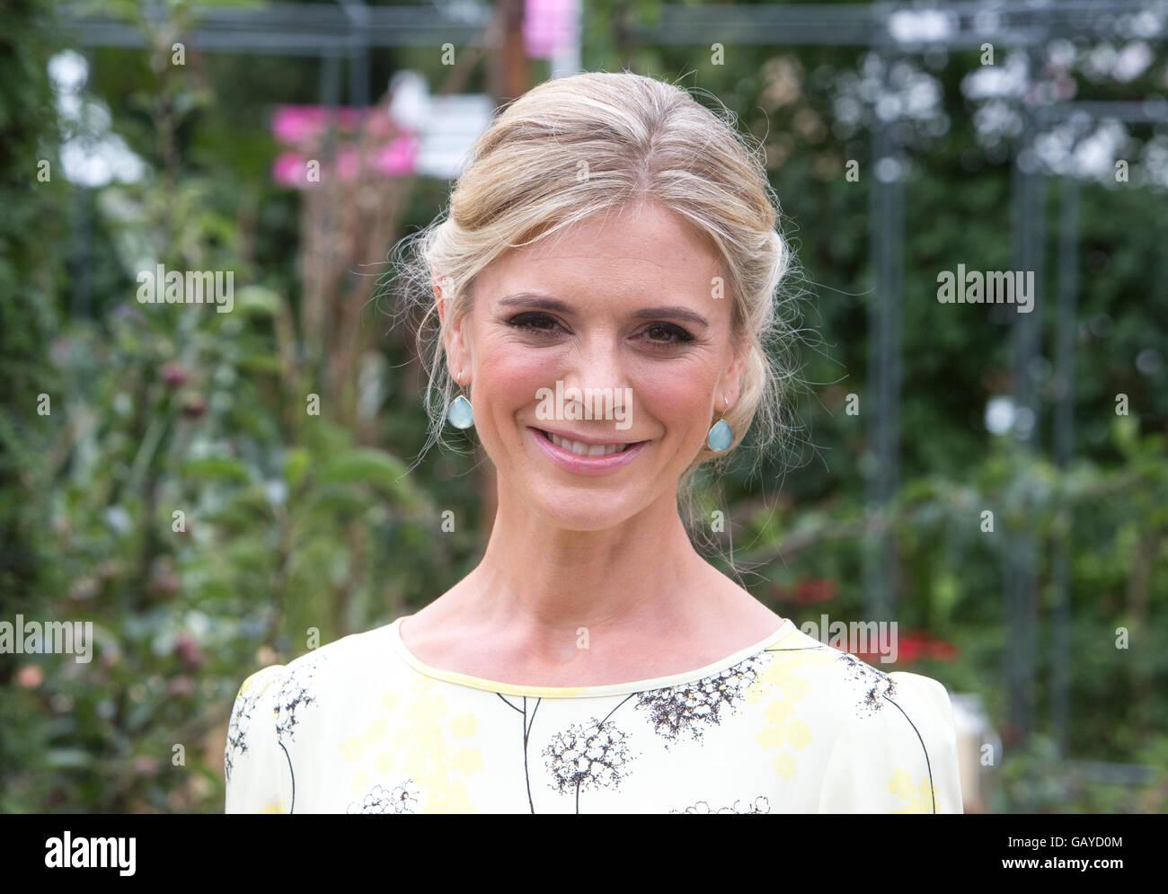 Actress Emilia Fox at The RHS Hampton Court Flower Show 2016 - Stock Image