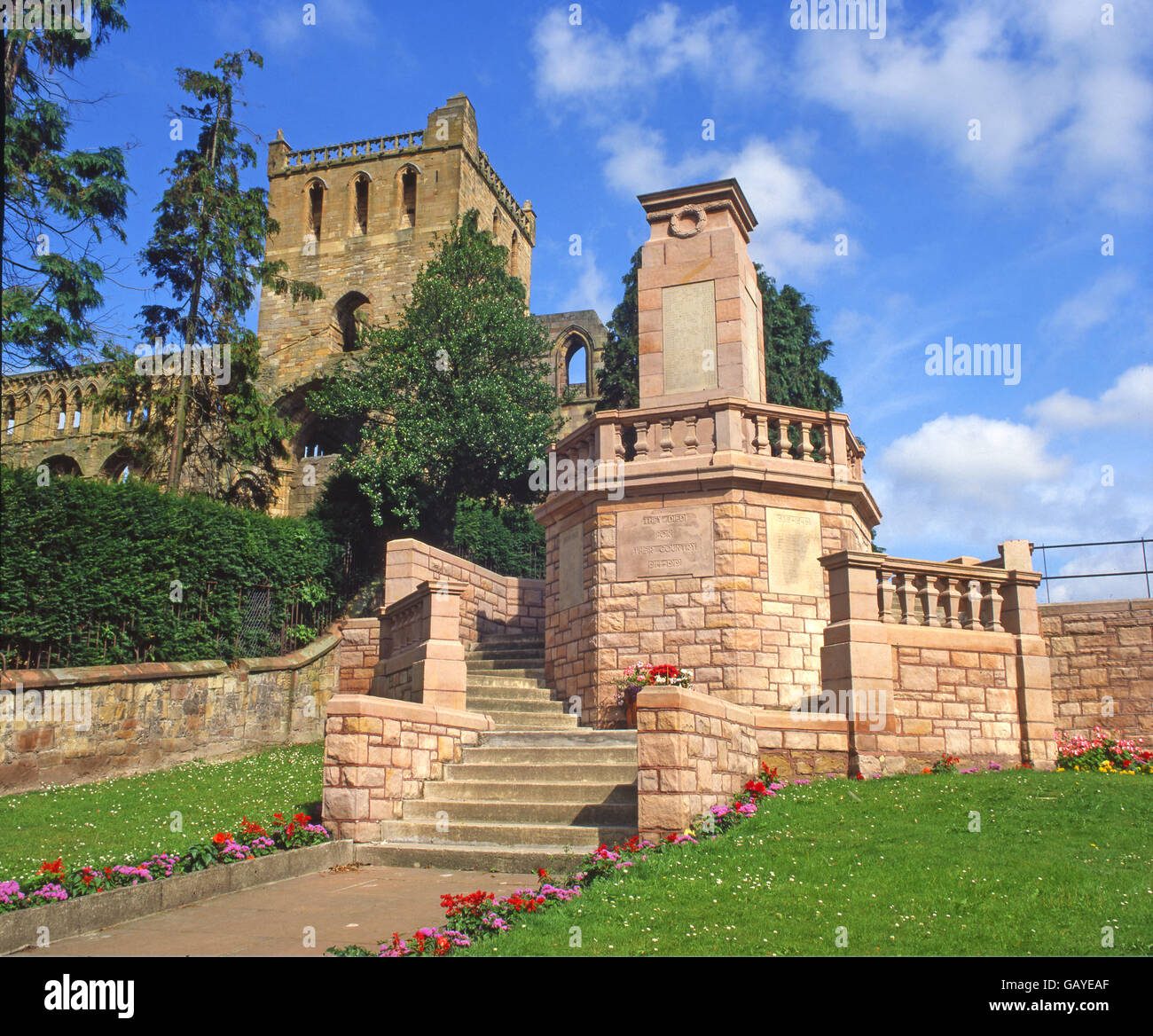 Jedburgh Abbey, Scottish Borders, Scotland - Stock Image