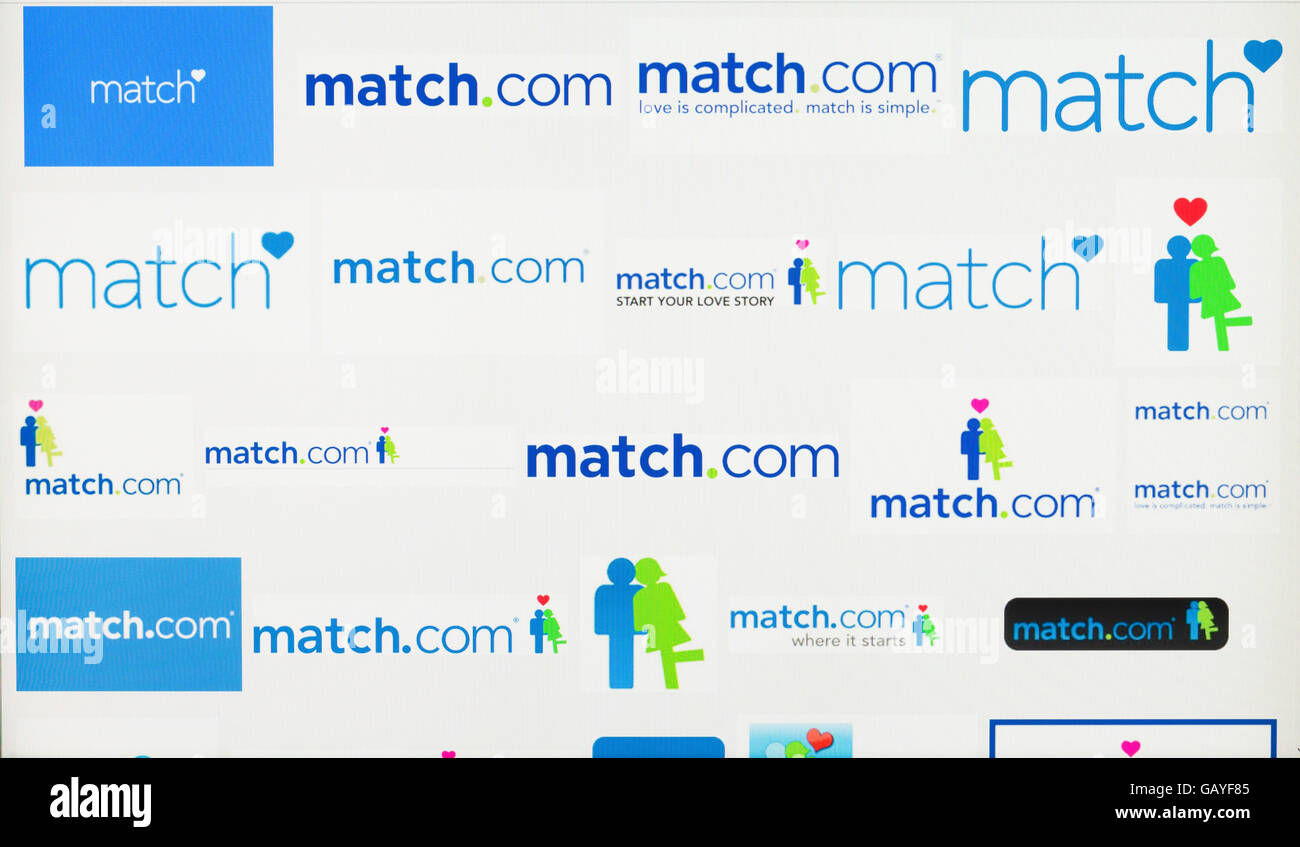 Screenshot of the match.com logo - Stock Image