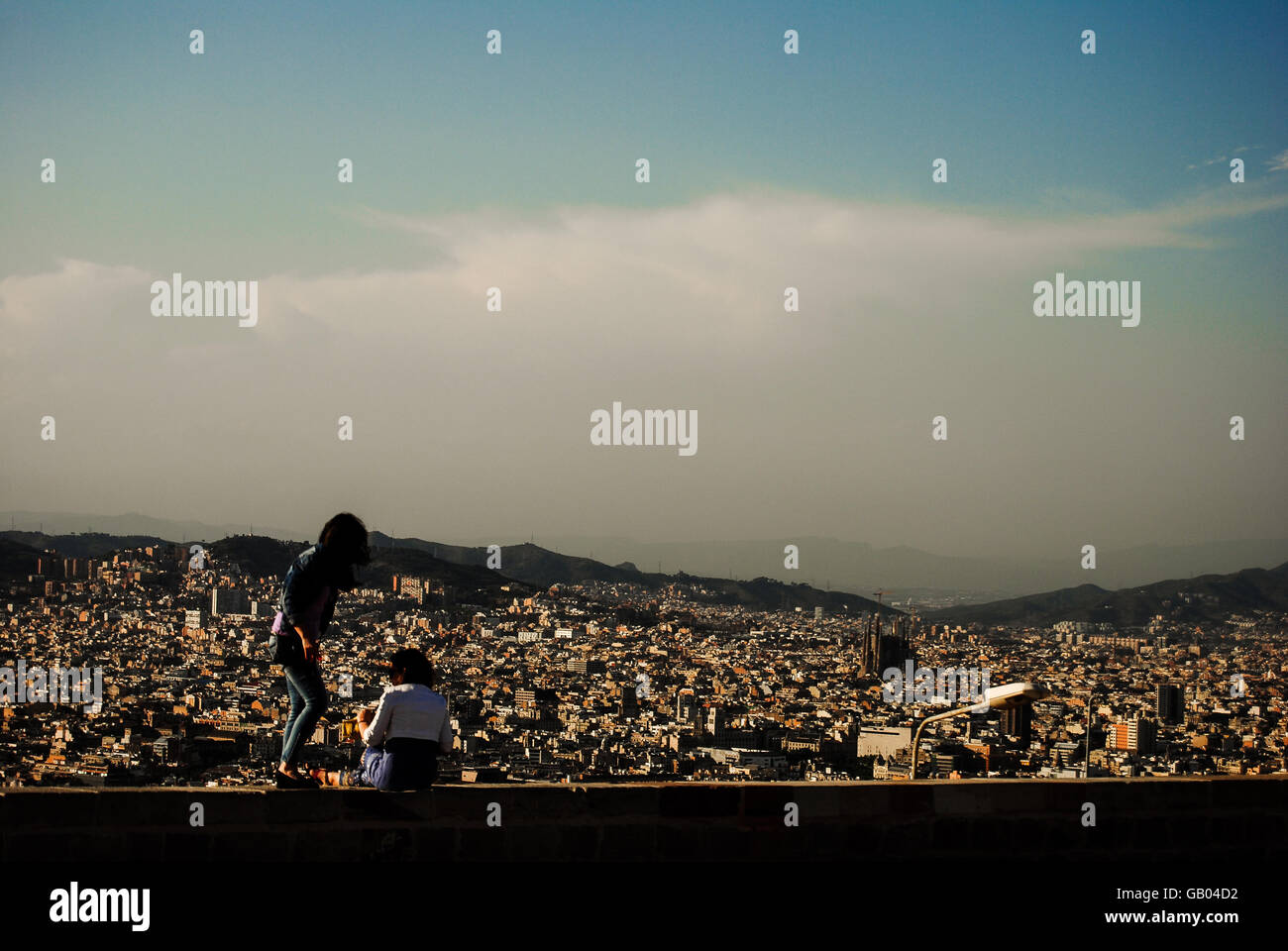 Overlooking beaches and buildings - Stock Image