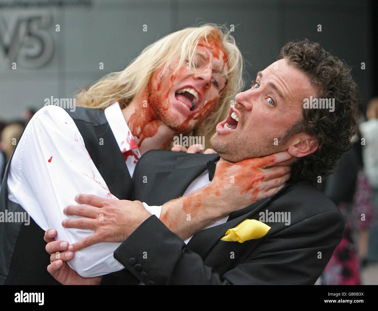 Belfast's first zombie horror film Stock Photo