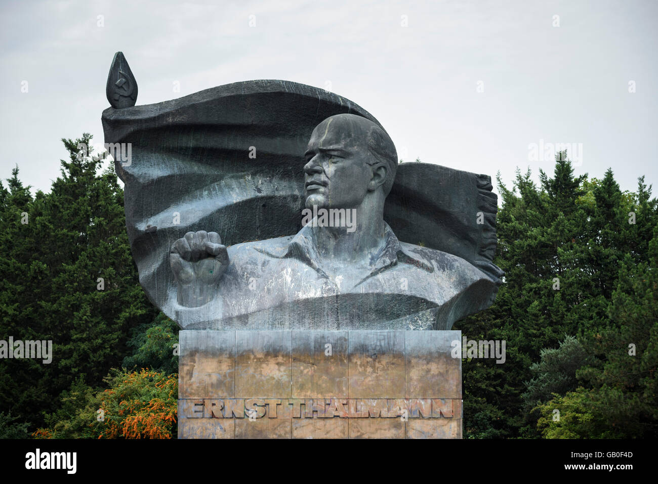 Berlin. Germany. Ernst Thälmann Monument in Prenzlauer Berg. - Stock Image