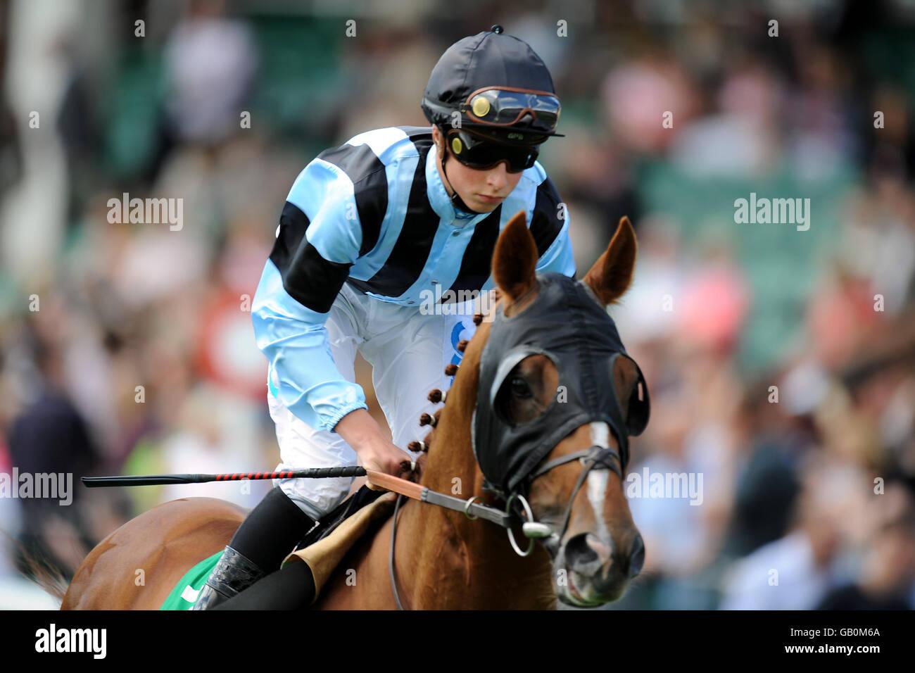 Horse Racing - Haydock Park Racecourse - Stock Image
