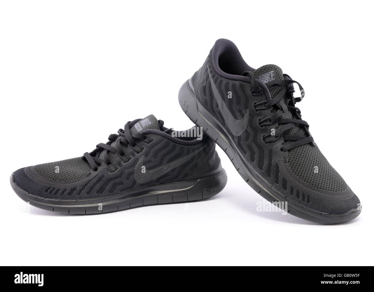 release date: 74b67 1a931 Nike Free 5.0 Barefoot Ride black trainers isolated on white background