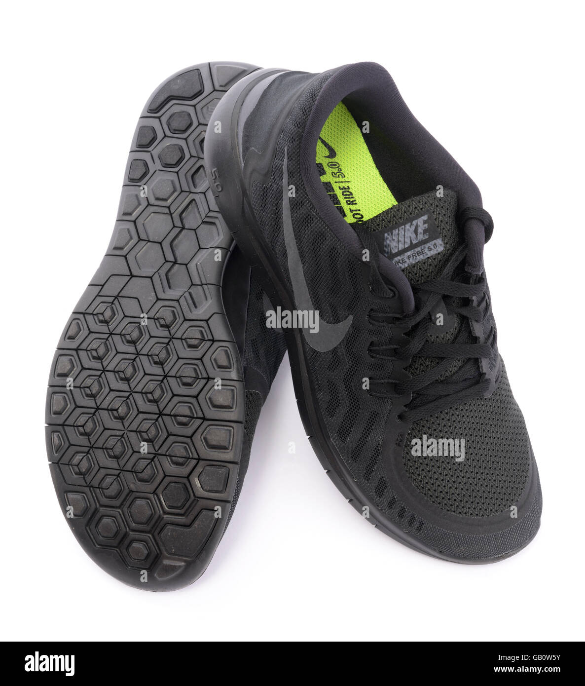 ac33a85424af30 ... Nike Free 5.0 Barefoot Ride black trainers isolated on white background Nike  Free 3.0 Flyknit ...