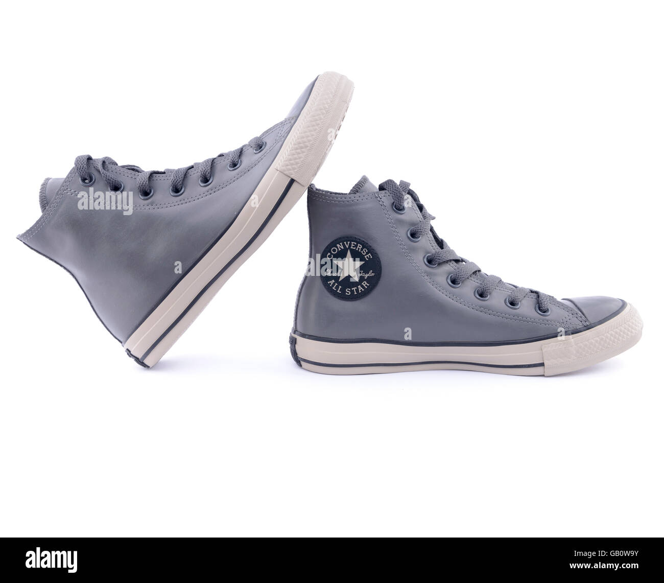 be5d9c578e0 Pair of gray Converse Chuck Taylor All Star rubber sneakers - Stock Image