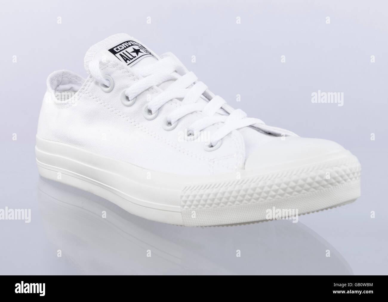 6f30cb494e0e White Converse Stock Photos   White Converse Stock Images - Alamy