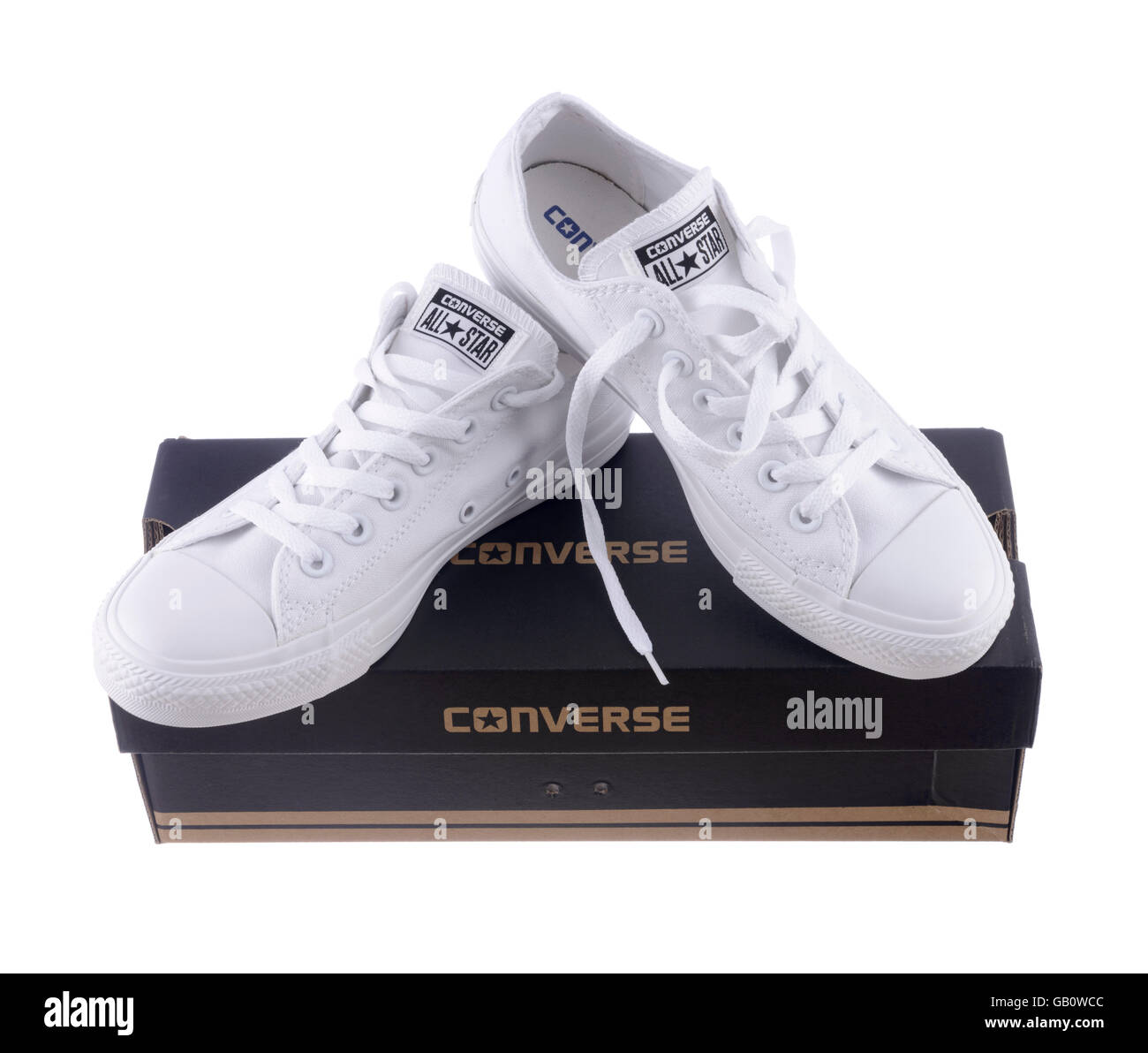 Pair of white Converse Chuck Taylor All