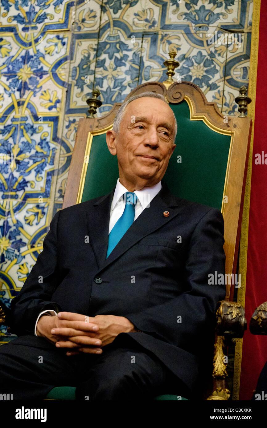 Portuguese President Marcelo Rebelo de Sousa - Stock Image