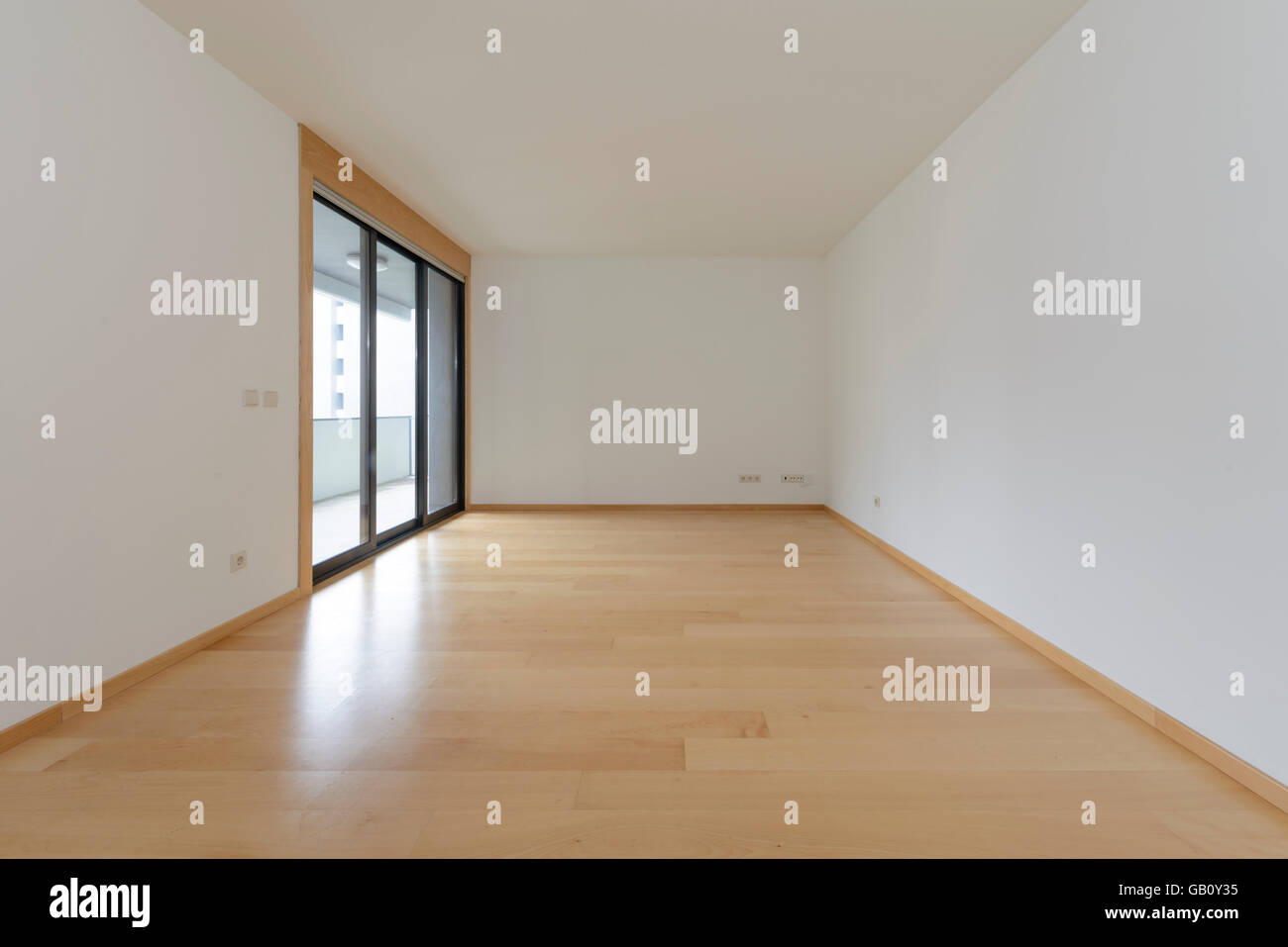 Empty Room With Big Window   Stock Image