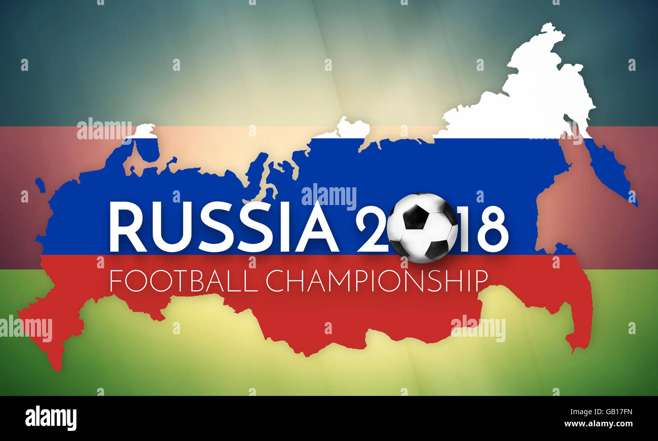 Soccer 2018 Germany Russia States Government Outline Modern Map