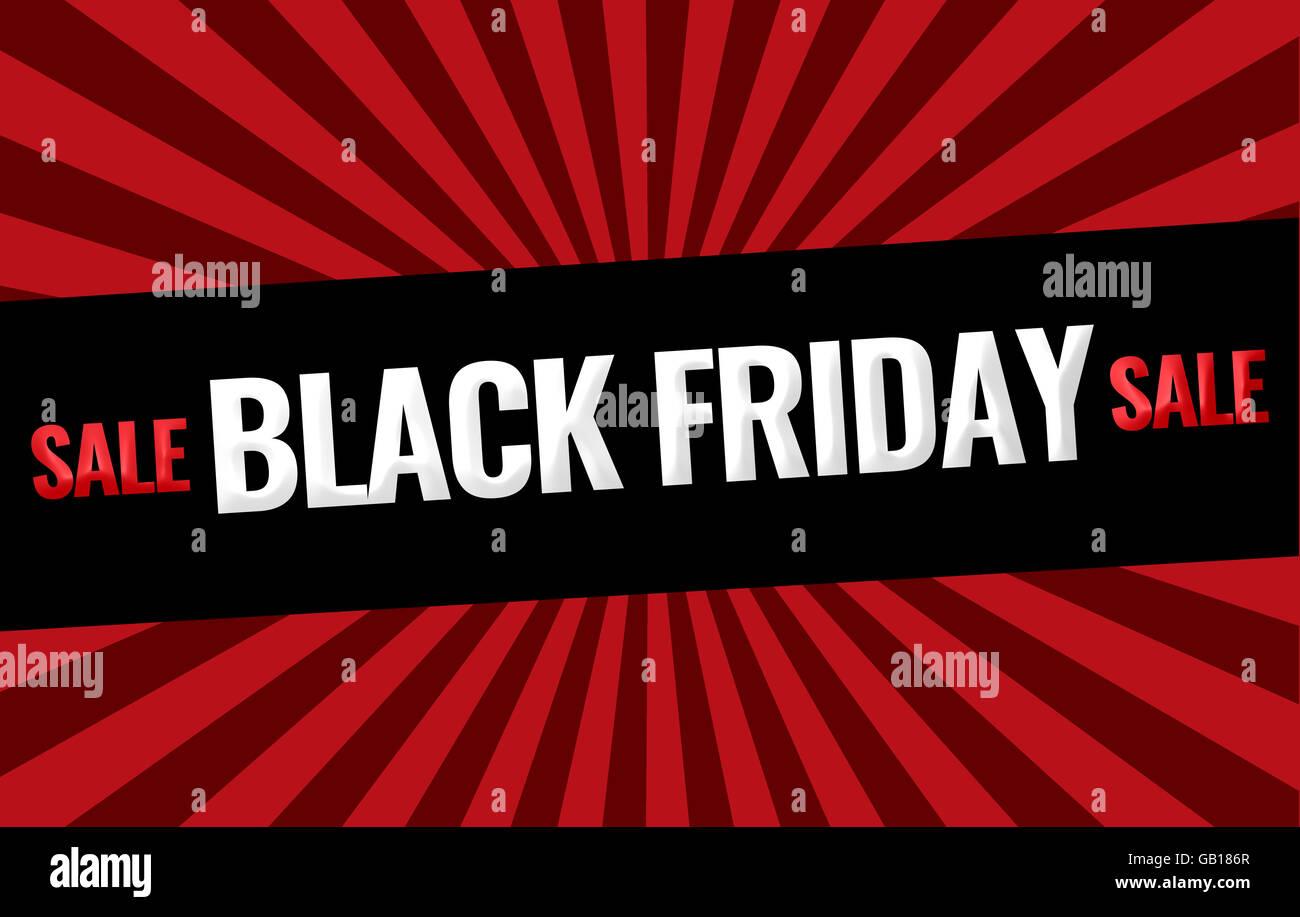 Black Friday Sale promotion display design Stock Photo