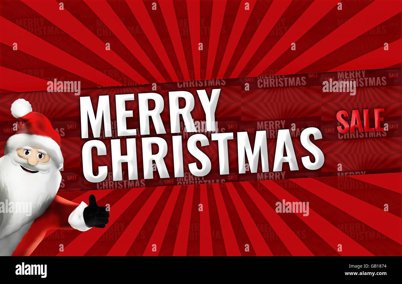 Christmas Sale promotion display design bold Stock Photo