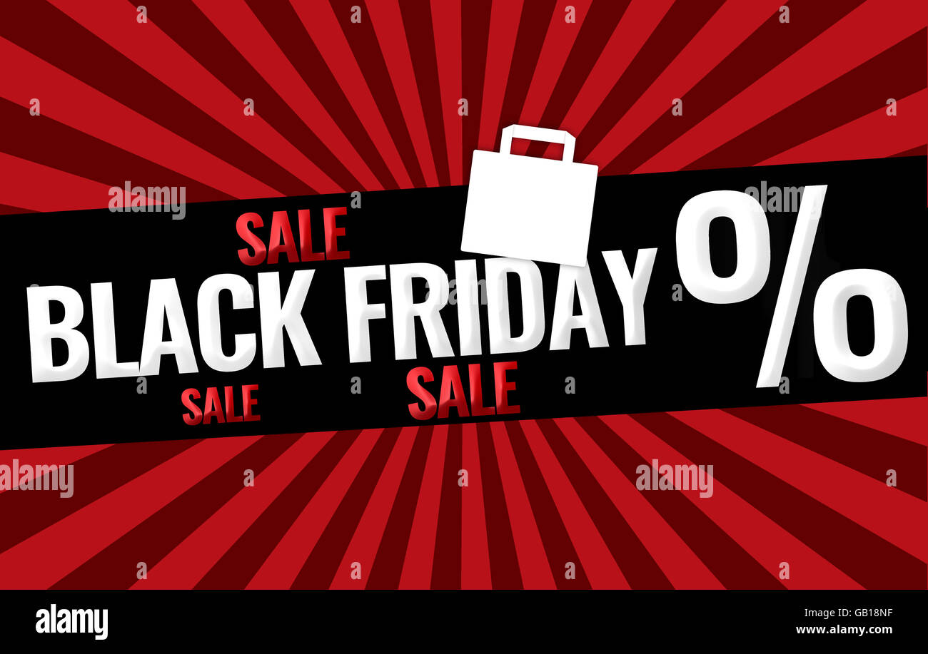Black Friday Sale promotion display design Stock Photo