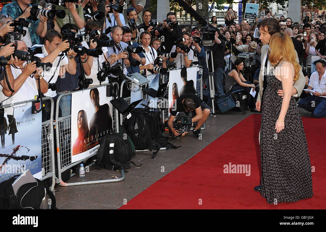 The X Files: I Want to Believe - UK Premiere - London Stock Photo