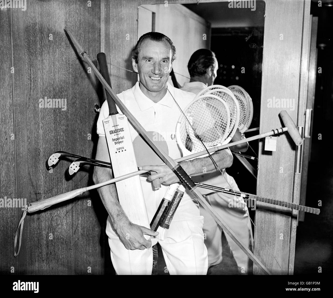 Tennis - Fred Perry Visits Simpson's Department Store - Stock Image