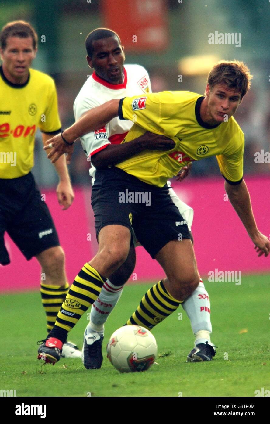 Soccer - Liga-Pokal Cup - Borussia Dortmund v VFB Stuttgart - Stock Image