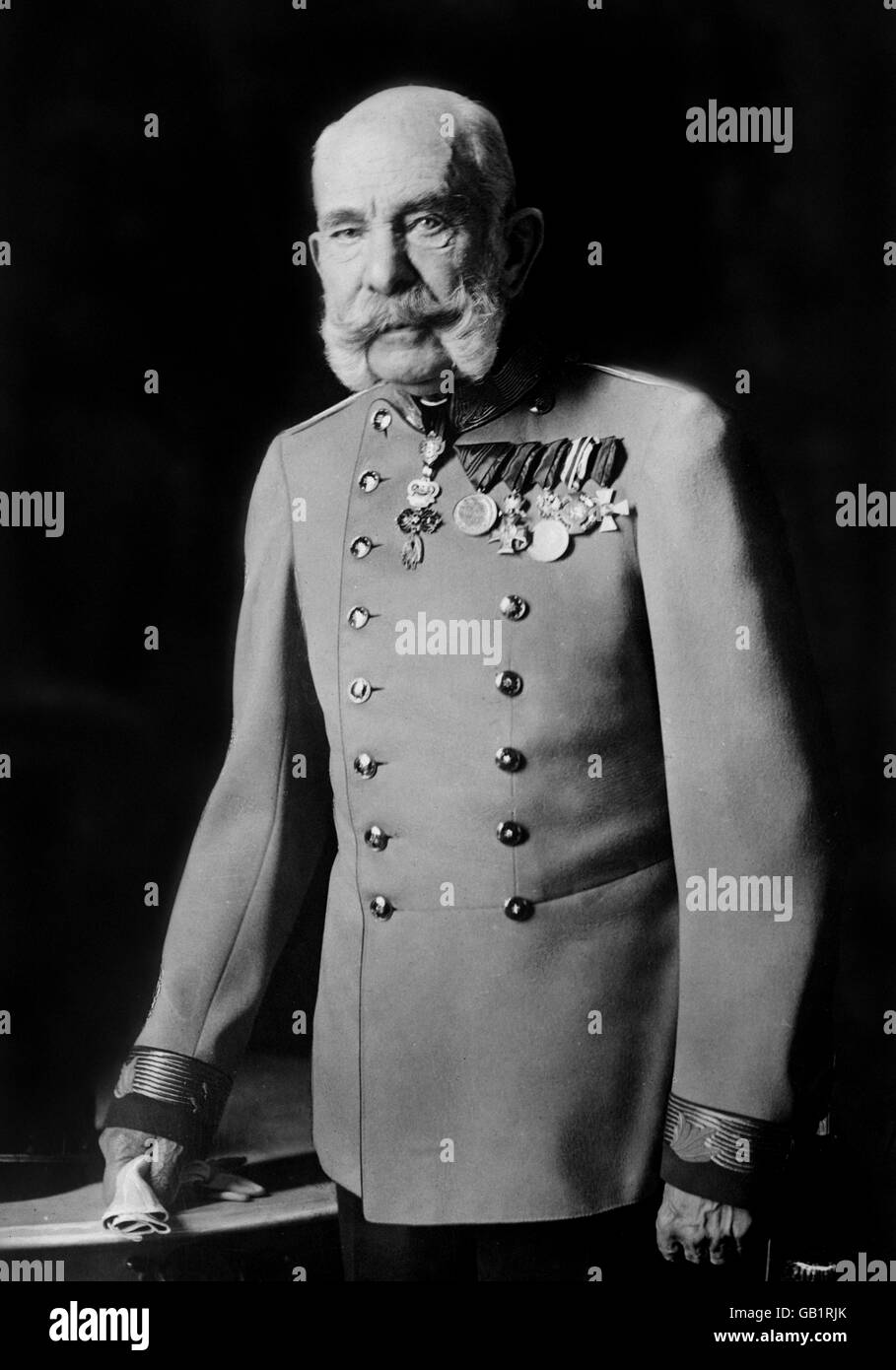 Franz Joseph I (Franz Josef I: 1830-1916). Portrait of the Emperor of Austria, and King of Hungary, Croatia and - Stock Image