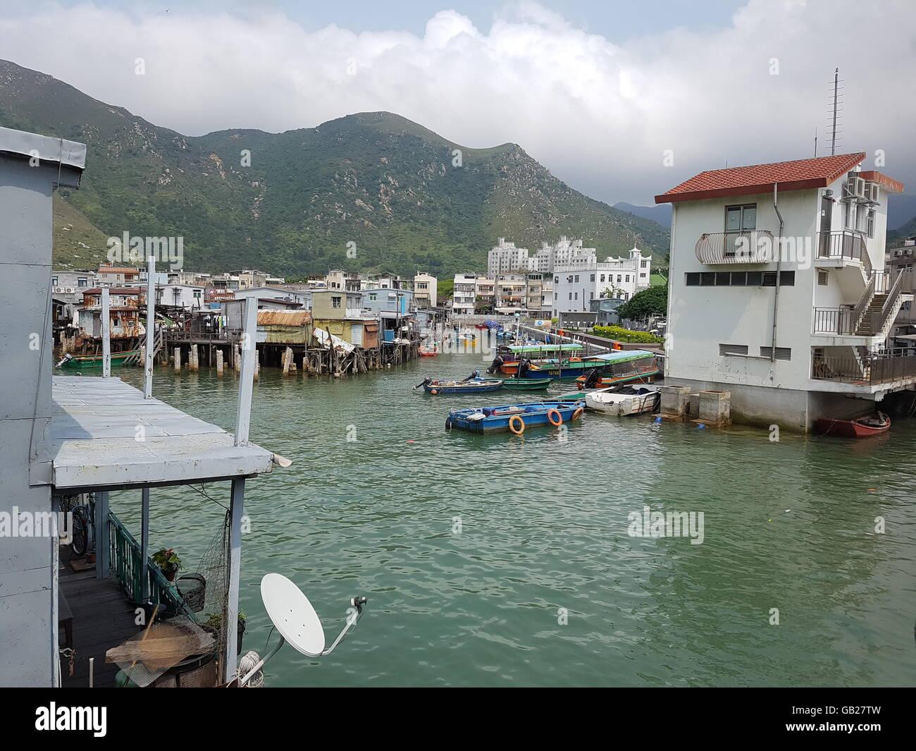 Tai O Fishing Village - Hong Kong - Stock Image