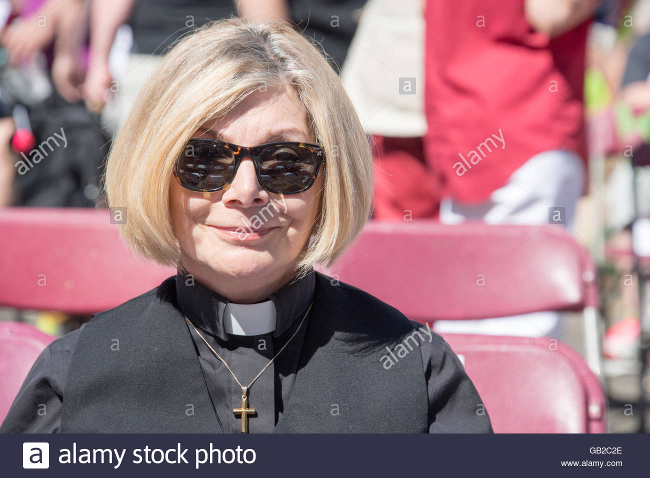 Cheri DiNovo during Church on Church. The event is a traditional religious service in Church Street during Toronto - Stock Image