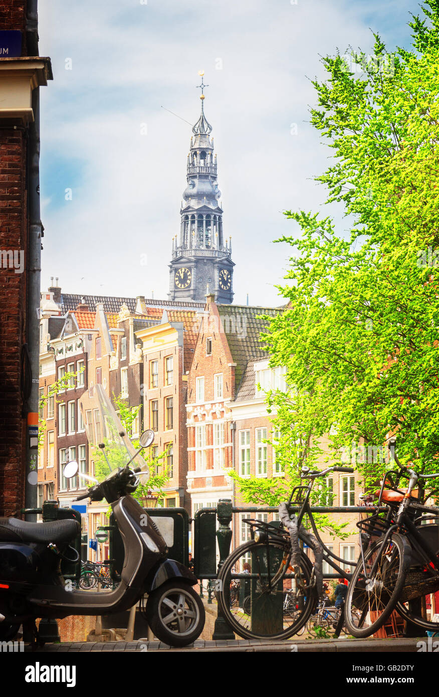 canal ring, Amsterdam - Stock Image